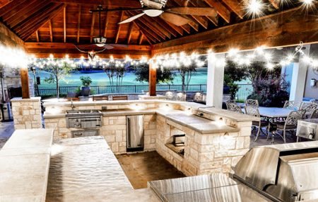 Outdoor kitchen and cabana
